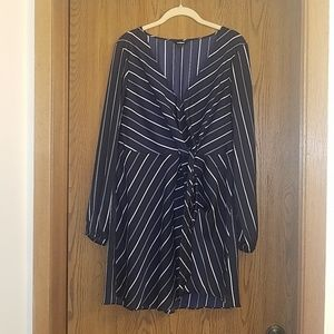 """Like new large Navy Blue Express """"wrap look"""" dress"""
